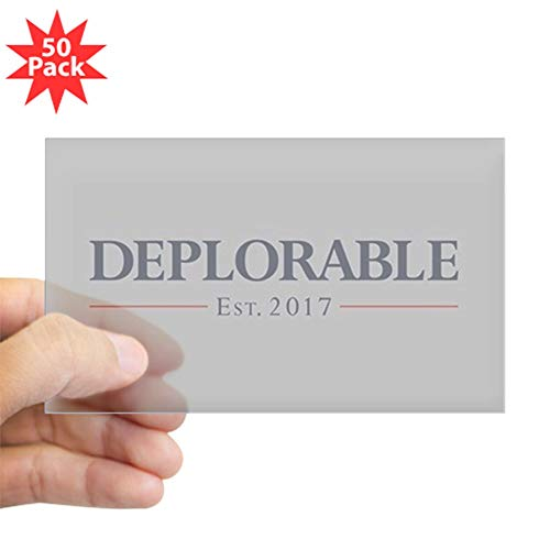 CafePress Deplorable Est 2017 Sticker (Rectangle 50 -