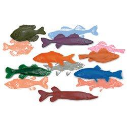 Nasco Life/form Freshwater Fish Replica Rubber Stamp Set for Printmaking45 Set of 7 - Science Education Program - SB41072