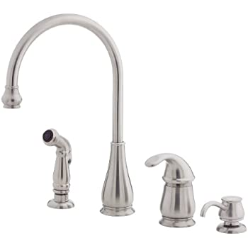 Pfister Lg264dss Treviso 1 Handle Kitchen Faucet With Side