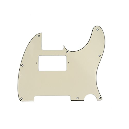 Musiclily 8 Hole Guitar Telecaster Pickguard Humbucker HH Scratch Plate for Fender USA/Mexican Standard Tele Parts, Cream 3Ply