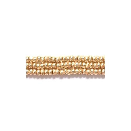 Preciosa Ornela Czech Seed Bead, True Cut Light Metallic Gold, Size 11/0 Shipwreck Beads 11SB852-C