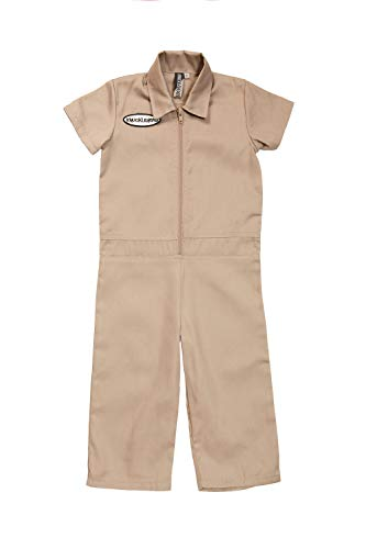 Born to Love Knuckleheads - Infant and Baby Boy Grease Monkey Coveralls Tan 5T