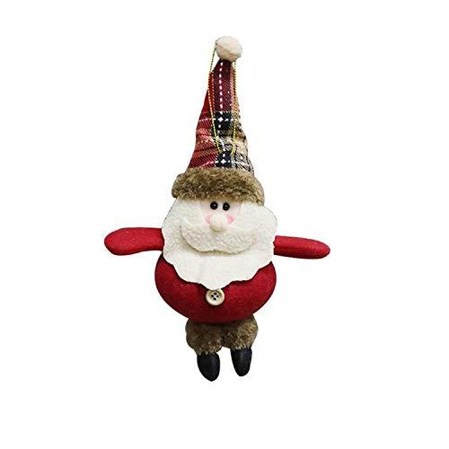 Noon-Sunshine decorative-plaques 1Pcs Santa Claus/Snowman/Deer Merry Christmas Doll Tree Pendant Ornament Home Christmas Party Xmas Tree,D -