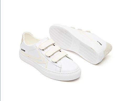 zapatos cuero casual planos de WFL fuego las de de femeninos blanco zapatos moda mujeres Súper zapatos do de zapatos TqfR8vCf