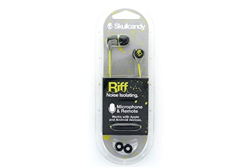 Skullcandy Riff Ear Bud with Mic, for All 3.5mm Phones and Devices – Hot Graylime
