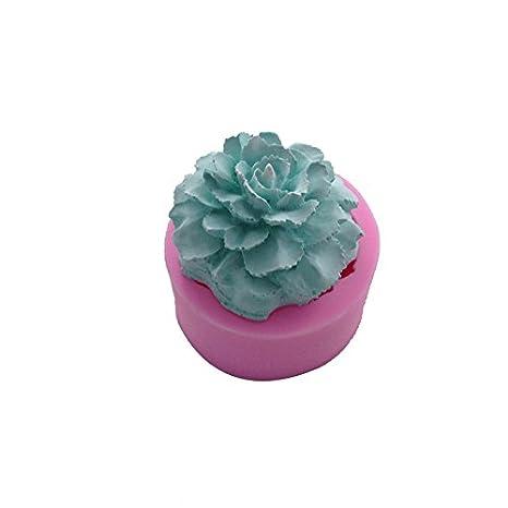Septiembre de clavel flor forma molde de silicona para decoraciones de fondant, diseño de hecho a mano jabón molde decorar molde de vela: Amazon.es: Hogar