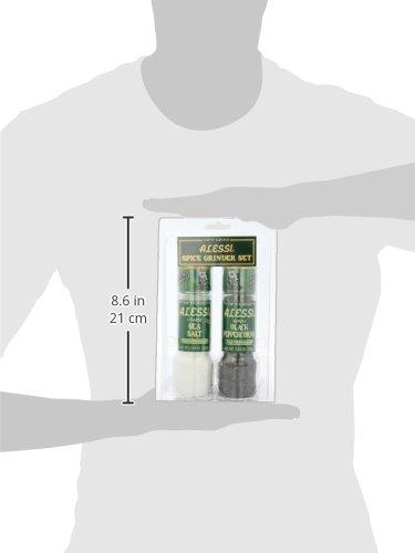 Alessi Grinder Set Salt 5.64 oz. and Pepper 2.64 oz.,  (Pack of 3) by Alessi (Image #5)