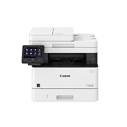 Canon Imageclass MF445dw - All in One, Wireless, Mobile Ready Duplex Laser Printer, with 3 Year Warranty and Expandable Paper Capacity Up to 900 Sheets (Item Code: 3514C004), White
