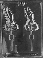 BUGS BUNNY HEAD LOLLY POP mold Chocolate Candy bunnies eared rabbit E407