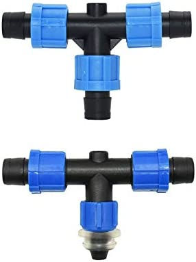 JINAN 16mm Irrigation Drip Tape Tee Water Splitter 12 To 16mm Irrigation Drip Tape 2-way Tee Splitter Connector 30 Pcs (Color : B) B