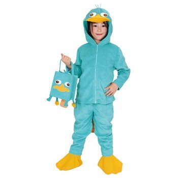 Disney Phineas and Ferb Perry Kids costume unisex 80cm-100cm 95147T - Ferb Halloween Costume