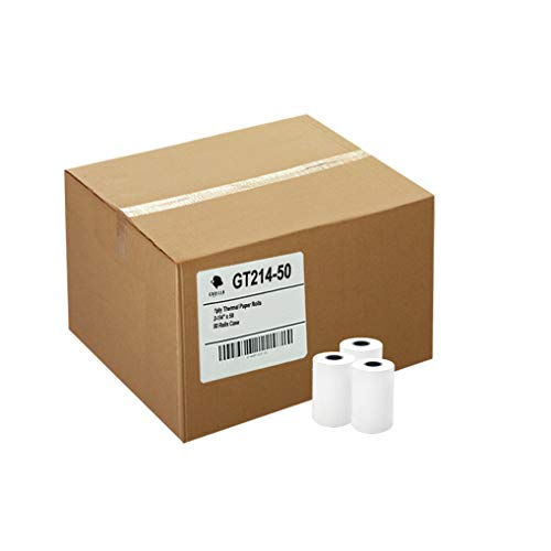 Gorilla Supply 50 Thermal Paper Rolls 2-1/4 X 50 Verifone Vx520 Ingenico ICT220 ICT250 FD400 - Paper 1/4 Rolls Thermal