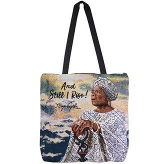 African American Expressions - And Still I Rise Woven Tote Bag (Cotton blend, 17