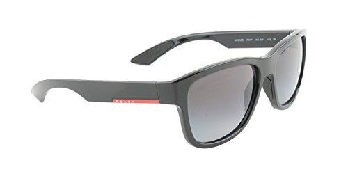 de Black Hombre 57 Polargrey 0PS03QS 1AB5W1 Negro Gafas Sol Prada OFYAxqY 32337e8f7863