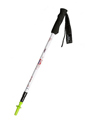 Single Piece of Mountain Yoyo X2v2.0 White Carbon Fiber Ultra Light Weight (169g, 6oz) Walking Pole Trekking Pole Walking Stick Telescoping Men Women MYYW2WH1