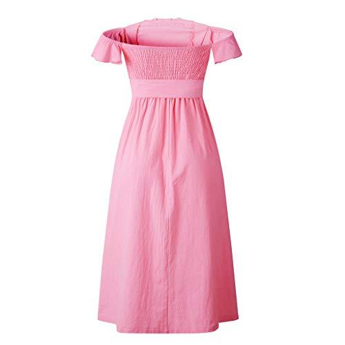 Landfox Dress, A-Line Dress,Women's Oversize Casual Pint Harem Pants Loose Trousers Jumpsuit Pink]()