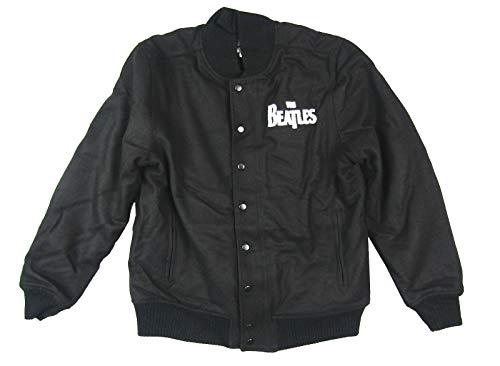 Beatles 50 American Tour 1964 Black Varsity Jacket Coat 2013 (XL) (John Lennon Military Jacket)