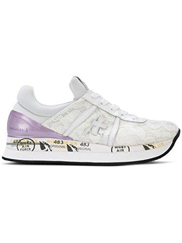 Premiata Women's Liz3003 White Rubber Sneakers by Premiata