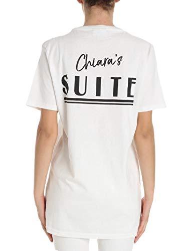 Mujer Algodon T Cft033white Blanco Chiara shirt Ferragni OwxIqx5