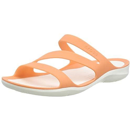 chollos oferta descuentos barato Crocs Swiftwater Sandal Women Sandalias de Punta Descubierta para Mujer Naranja Grapefruit White 82q 34 35 EU