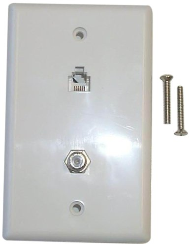 Black Point Products BT-063 White Combo Phone/Video Jack, White