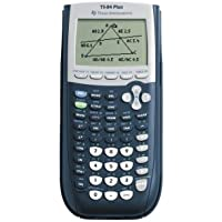 TEXTI84PLUS Calculator, Graphing, USB Cable,3-1/3x7-1/2x9/10, Black