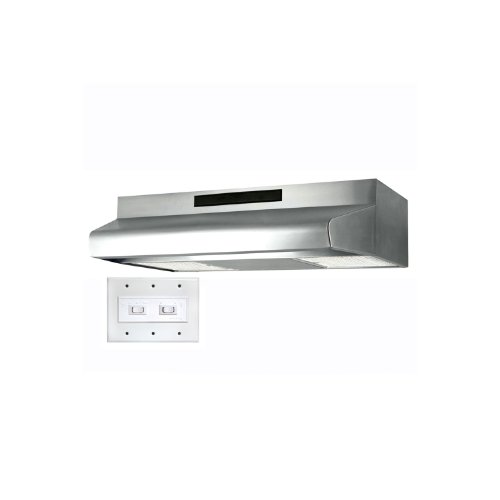Air King ES308ADA ADA-Compliant Energy Star Qualified 30-Inch Wide Under Cabinet Range Hood with 2-Speed Blower and 270 CFM, Stainless Steel Finish