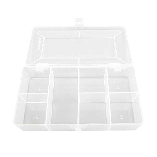 10 Pieces Clear Beads Tackle Box 011 Fishing Lure Jewelry Nail Art Small Parts Display Plastic transparent Case Storage Organizer Containers
