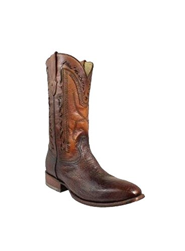 Corral Mens Brown Smooth Struisvogel Frans Teen Western Boot