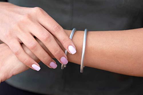 Silver Bangle Set Handmade Simple Thin bracelets Bracelets for Woman silver bracelet