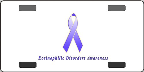Eosinophilic Disorders Awareness Ribbon Vanity License Plate