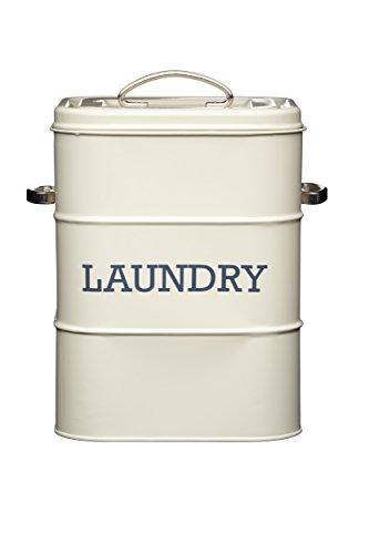 Kitchen Craft Living Nostalgia LNLAUNDRYCRE Lata para detergente, Color Beige