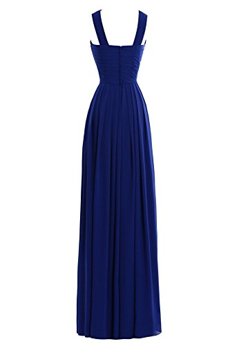 Formal with s Line Women Bess Long Bridesmaid Dress Gold Chiffon A Straps Bridal SvqXBxwA