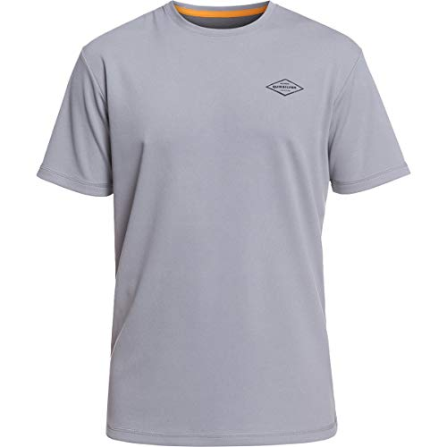 - Quiksilver Waterman Men's Gut Check Ss UPF 50+ Surf Tee Rashguard, Sleet, XL