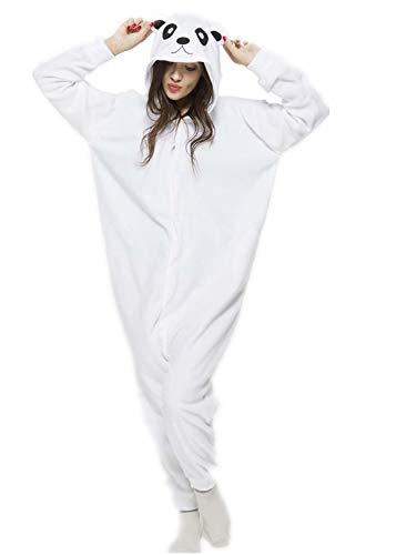 - Adult Animal Halloween Polar Bear Onesies Cosplay Costumes Onesie Halloween Sleepwear for Women Men S