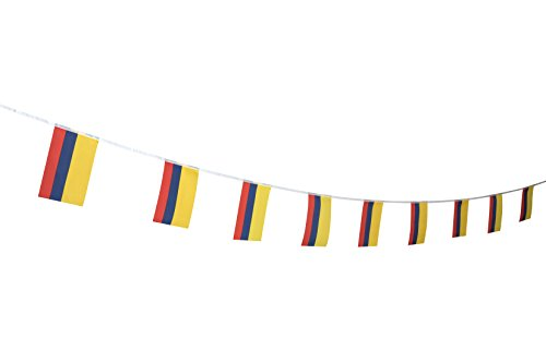 Colombia Flag Colombian Flag,100Feet/76Pcs National Country World Pennant Flags Banner,Party Decorations Supplies For Olympics,Indoor and outdoor flag,Sports Events,Sports Clubs,International Festival for $<!--$11.99-->