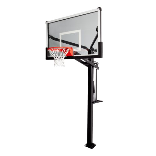 Lifetime 90180 Height Adjustable Mammoth In Ground Basketball System, 60 Inch Backboard