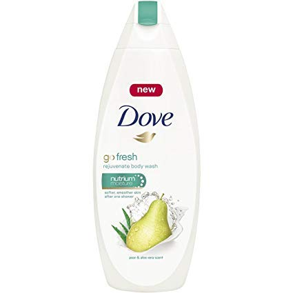 Dove Pear Aloe Vera Nutrium Moisture Bath Body Wash Shower Gel, Pack of 3, (16.9 Fl. Oz/500 ml Each)
