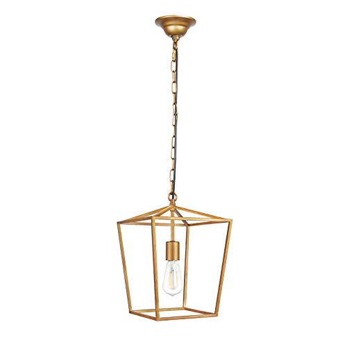 Antique Pendant Light Dark Brass in US - 6