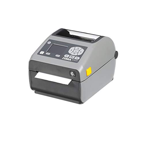 Zebra - ZD620d Direct Thermal Desktop Printer with LCD screen - Print Width 4 in - 203 dpi - Interface: Ethernet, Serial, USB - ZD62142-D01F00EZ (Best Media Asset Management System)