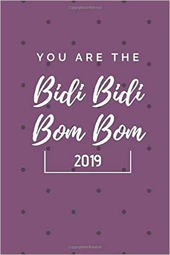 You Are The Bidi Bidi Bom Bom 2019 6x9 Weekly Calendar Selena Quintanilla Milexico 9781791967598 Amazon Com Books