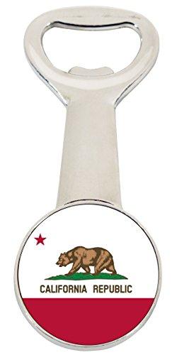 California Republic State Flag Bear Souvenir Magnetic Bottle Opener