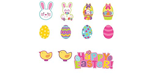 Easter Wall Decorations (Amscan 190238 Egg-stra Adorable Easter Party Decoration Mini Cutouts, 5