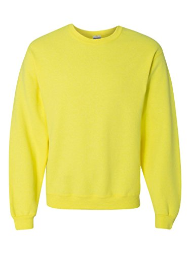 Price comparison product image Jerzees mens 8 oz. 50 / 50 NuBlend Fleece Crew(562)-NEON YELLOW-S