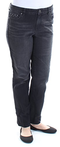 Style & Co. Petite Studded Straight-Leg Jeans (Black Jewel, 12 Petite) (Straight Leg Jeans Studded)