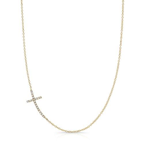 Curved Diamond Necklace - 7