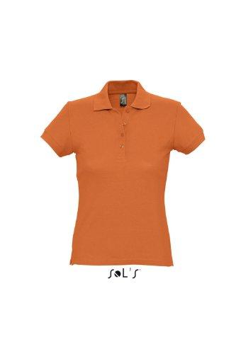 Sols - Passion - Damen Poloshirt Kurzarm , Orange , S S,Orange
