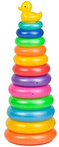 Ratna's Duck Stacking Ring for Kids. Helps Kids recognise Different Colour and Sizes (Super 11 Rings)