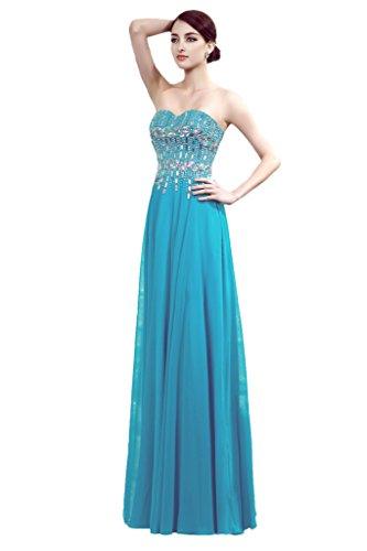 Prom Girl House Femme A Gloire de ligne Cœur Mousseline de la découpe Balle StandART42Long soir soirée -  bleu - 2 mois