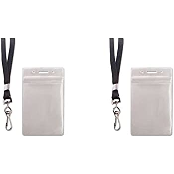 Lot of 10 Advantus Resealable ID Badge Holder Cord Reel Horizontal 3 3//4 x 2 5//8